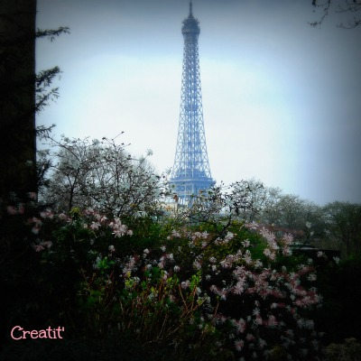 Tour Eiffel au Printemps