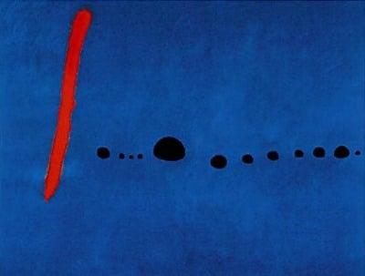 Bleu II Miro 1961