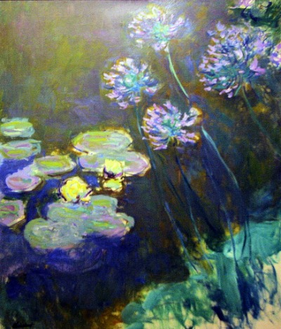 nympheas et agapanthes claude monet 1914 1917