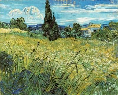 van gogh champ de blé St Rémy de Provence 1889