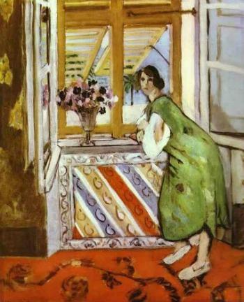 Jeun fille à la robe verte Matisse 1921