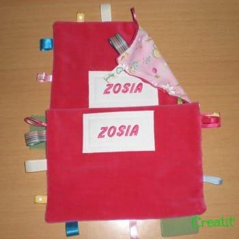 Doudous étiquettes Zosia