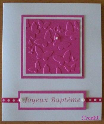 Carte baptême Eléa